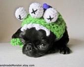 CROCHET HAT PATTERN pdf dog costume pet costume halloween puppy cat pet small medium monster green purple email