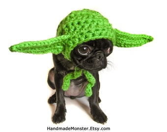 extra small STAR WARS DOG hat costume yoda inspired pet geekery nerdy costumes jedi photo photography prop mashable