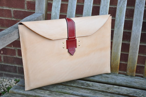 Natural Leather 15 inch Macbook Pro laptop cover