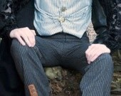 "Steampunk Dandy  ""Clockwork Killer"" Trousers One off Item Size 32 Inch Waist"