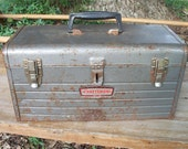 Craftsman Mid Century Tool Box Distressed Useable Find