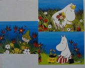 Three Moomin postcards A6