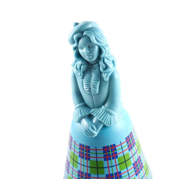 Vintage Avon Perfume Bottle Blue Preppy Girl In By