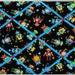 """Adorable Robots on Black -  Fabric Covered Memo Board - 15"""" x 20"""""""