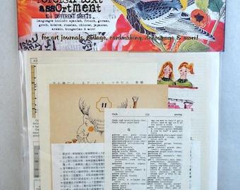 petite foreign text vintage collage assortment