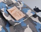 The new iPad case for Men .Blue camouflage iPad 1 ,iPad 2 and iPad 3 case. the new iPad cover,Tablet sleeve