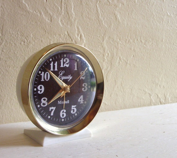 Equity Minibell Alarm Winding Clock in Excellent Condition