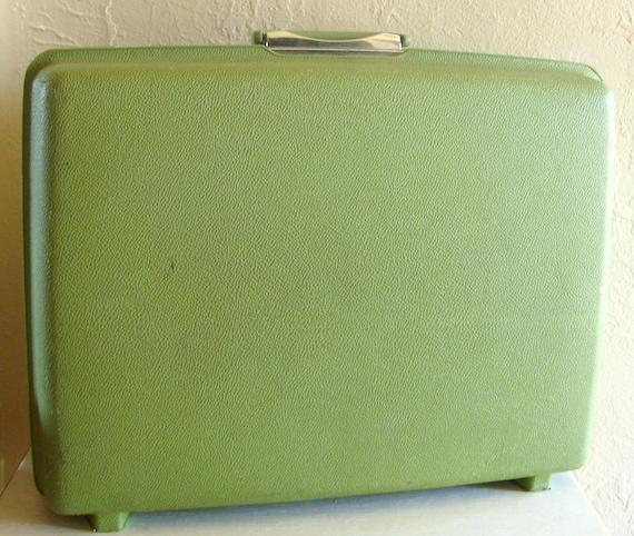 Vintage Light Green Samsonite Large Travel Suitcase Hard Case Very Clean