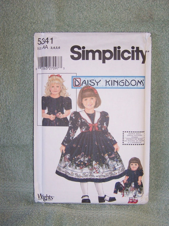 Simplicity Daisy Kingdom Girl's Dress, Jacket, Plus Doll Dress Pattern