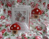 Pixie Toadstools Felt Kit  - Make Your Own - DIY - Christmas Ornament Toadstools