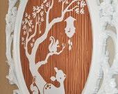 Forest friends wall art: woodland deer, bunny, owl, squirrel, fox and hedgehog