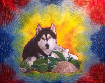 Not for Sale Example Special Order:  medium pet portrait on fabric