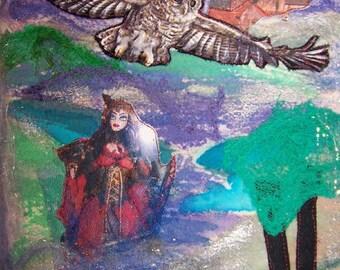 Mini Art Quilt:   Mystical Night