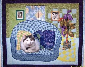 Example of a Custom Made Medium Size  Photo Pet Quilt