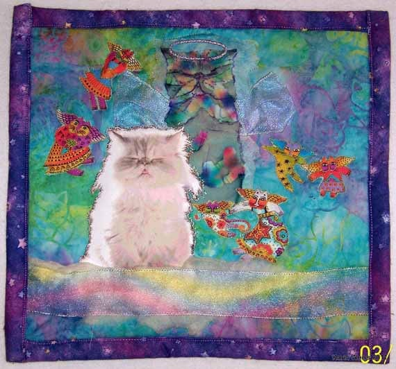 Example of a Custom Made small  Photo Pet Quilt