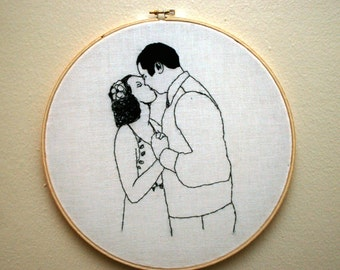 Custom Embroidered Portrait