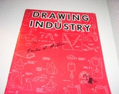 Drawing in Industry by Emile B. Willes Instructional Drawing Book Mid Century Industrial Paperback Book
