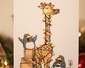 Christmas at the Zoo - Christmas Card