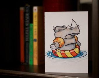 Odd Rhino - Get Well Card