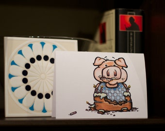 Odd Pig - Birthday Card
