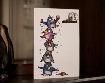 Odd Penguins - Congratulations Card