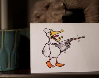 Crazy Old Duck - Birthday Card