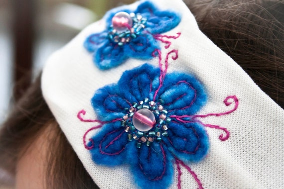Flower hairband - felted hairband