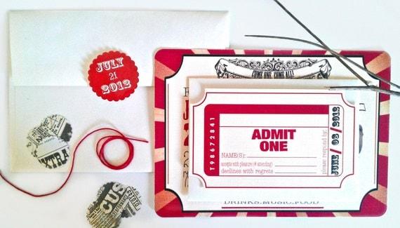 Wedding Invitation, Carnival & Ticket