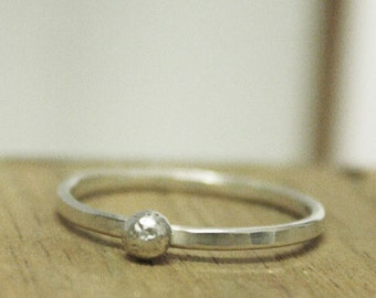 Posy Collection - Individual Sterling Silver Ball Stacking Ring
