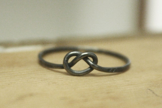 Forget Me Knot - Individual Oxidised Victorian Love Knot Stacking Ring