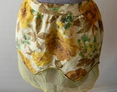 Vintage Reversible Apron, Yellow Apron with Pocket