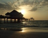 Clearwater Pier at Sunset - 8X10 Color Photograph