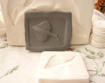 Clay Stamp Manta Ray Pottery Press Mold Relief Mold or Sprig Mold Bisque Clay Stamp for Ceramic Decoration and Texture White