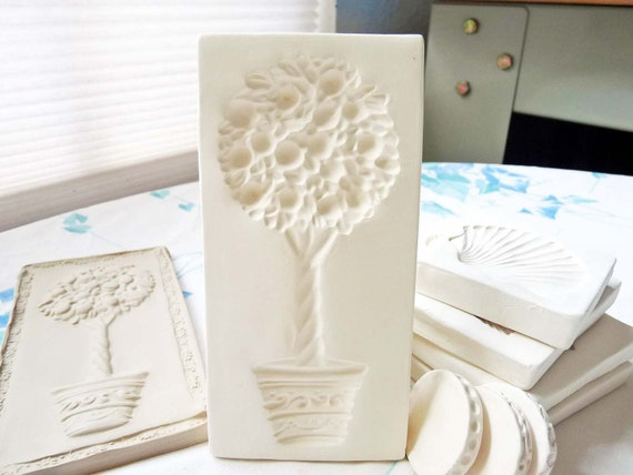 Clay Sprig Stamp Tree Topiary Pottery Press Mold for Ceramic Decoration and Texture