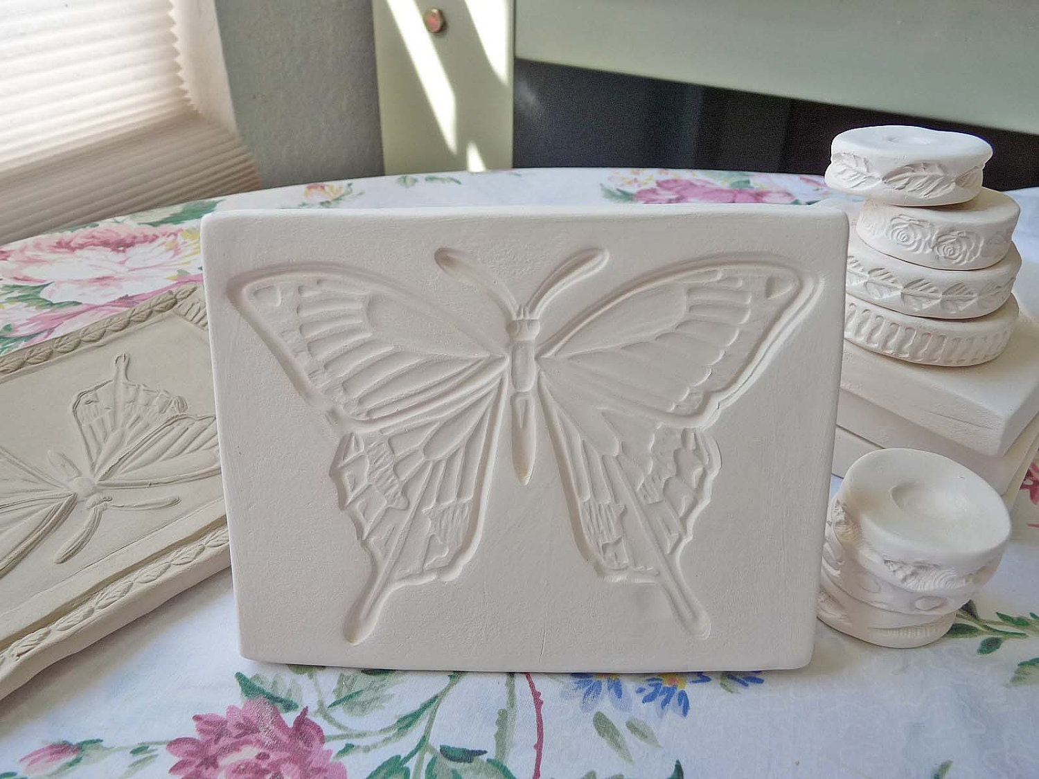 Clay Stamp Butterfly Pottery Press Mold Relief Mold Or Sprig