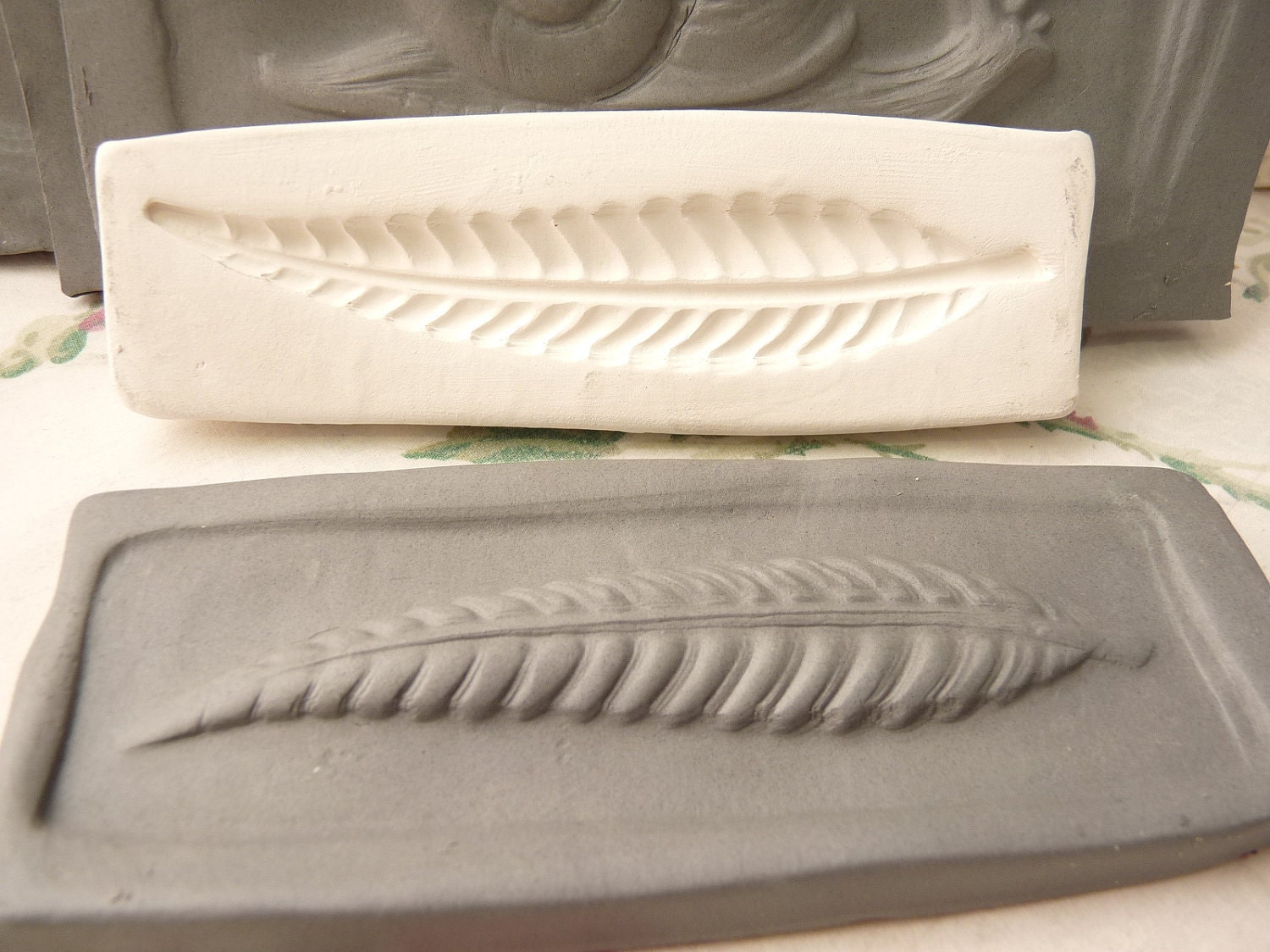 Clay Stamp Leaf Press Mold Relief Mold Or Sprig Mold Bisque