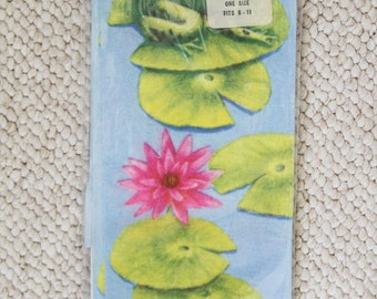 Vintage Lily Pad Flowers and Frog Socks/Stockings