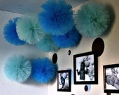 Tulle pom pom, set of 20. . for weddings, party decorations and centerpieces