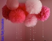 6 mix sizes poms with for weddings birthday parties showers   Photo props and more....