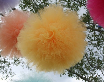 SALE SALE SALE Tulle poms set of 7