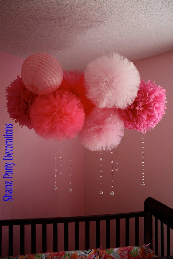 Tulle Pom poms, any color of your choice....
