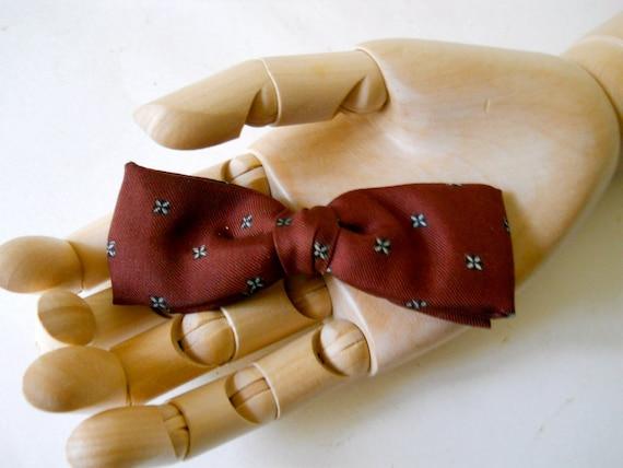 Vintage Bow Tie Silk 1950s