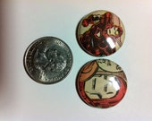 Vinage Iron Man Comic Book Buttons 2-Pack