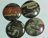 Battlestar Galactica Comic Book Button 4-pack