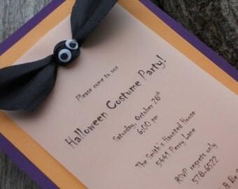 Handmade Halloween Invitation-Bat