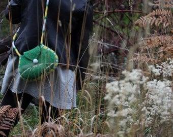Felt Handbag, Shoulder Bag (grass green)