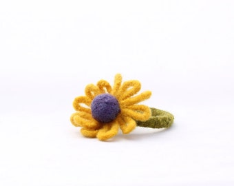 Spring Has Sprung, Flower Bangle (yellow with blue centre)