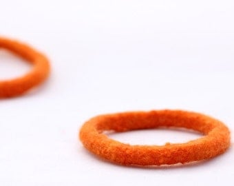 Felt Bangle, Soft Bracelet (wallflower orange)