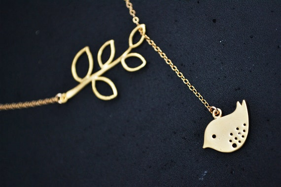 Gold Filled Necklace - Little Bird Lariat (Also available in Sterling Silver)