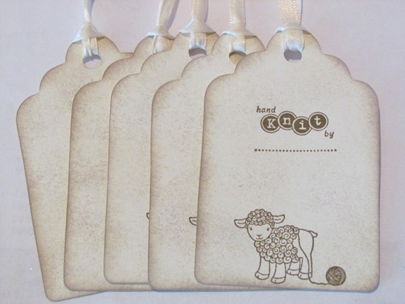 Knitting Gift Tags : Gift tags for hand knit items